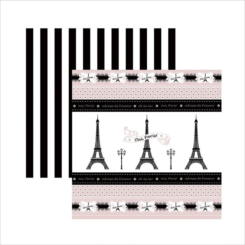 Papel Inspiração Paris - Fitas e Rótulos - By Mariceli Massuci / Toke e Crie  - JuJu Scrapbook