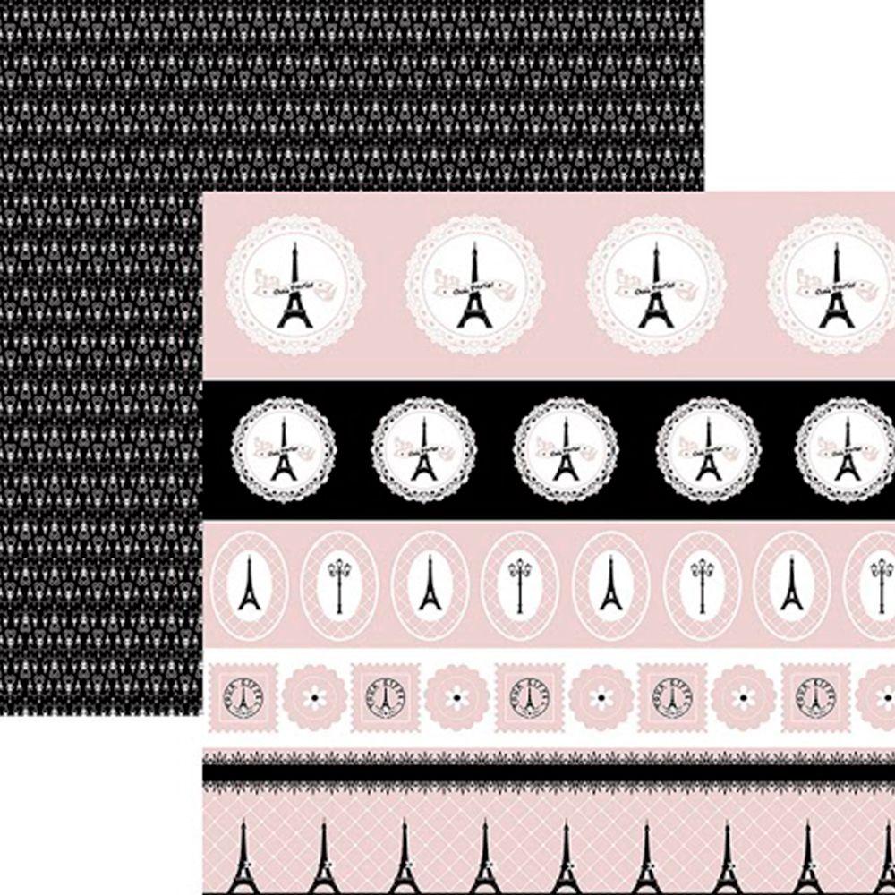 Papel Inspiração Paris - Selos e Tags - By Mariceli Massuci / Toke e Crie  - JuJu Scrapbook