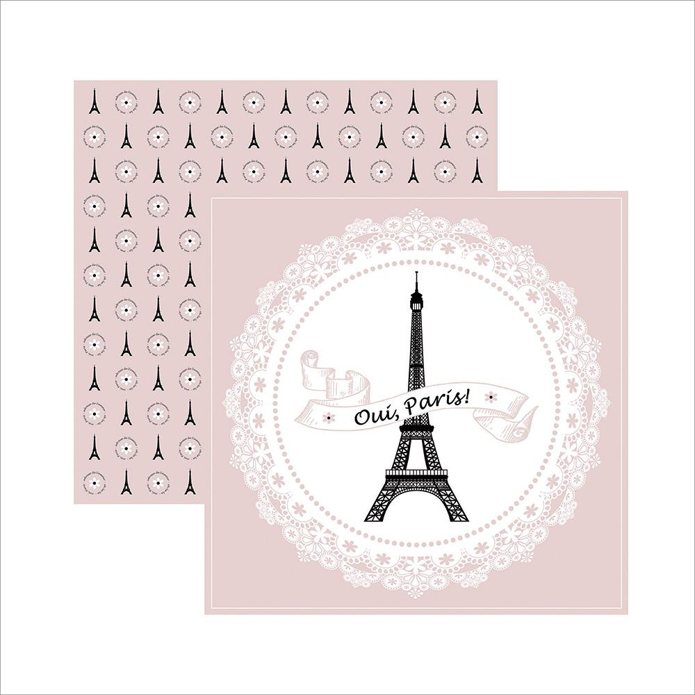 Papel Inspiração Paris - Guirlanda - By Mariceli Massuci / Toke e Crie  - JuJu Scrapbook
