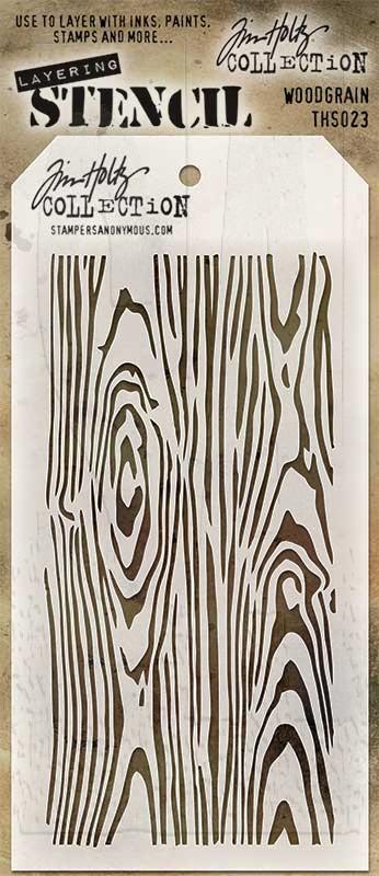 Stencil Woodgrain - Tim Holtz  - JuJu Scrapbook
