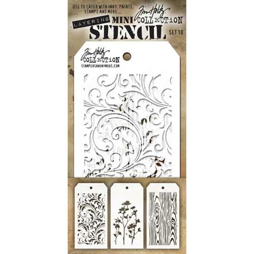 Stencil SET 10 - Tim Holtz  - JuJu Scrapbook