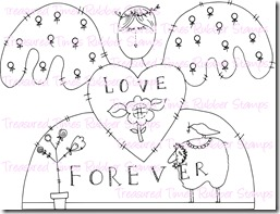 Carimbo Treasured Times - Modelo Love Forever Angel  - JuJu Scrapbook
