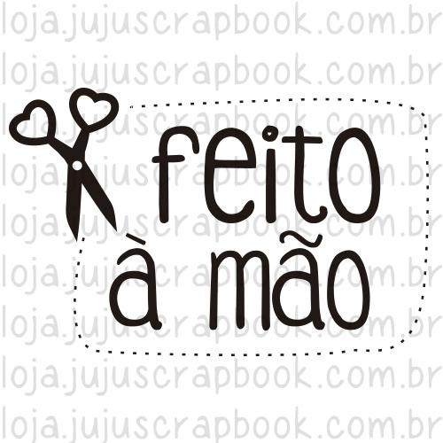 Carimbo Modelo Feito à mão - Coleção Love Scrap / JuJu Scrapbook  - JuJu Scrapbook
