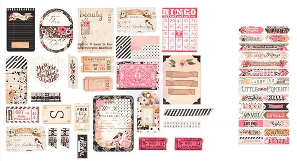 Ephemera - Rossibelle Collection / Prima Marketing  - JuJu Scrapbook