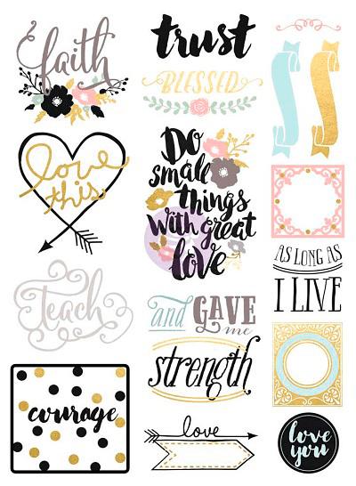 Stickers Love Faith Scrap / Prima Marketing  - JuJu Scrapbook