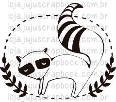 Carimbo Modelo Guaxinim - Coleção Floresta Encantada / Juju Scrapbook  - JuJu Scrapbook