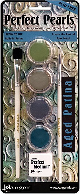 Perfect Pearls Aged Patina - The Complete Embellishing Pigment Kit  - JuJu Scrapbook