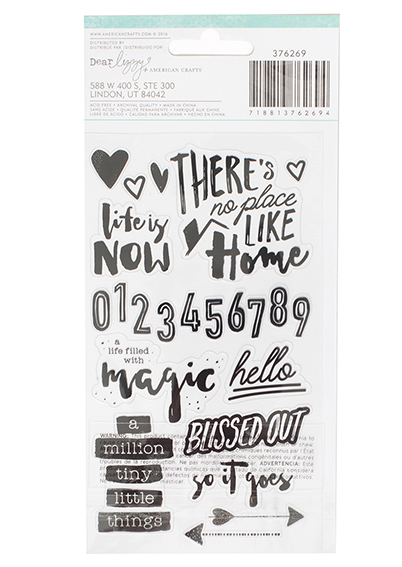 Black Varnish Stickers - Coleção Saturday / Dear Lizzy  - JuJu Scrapbook