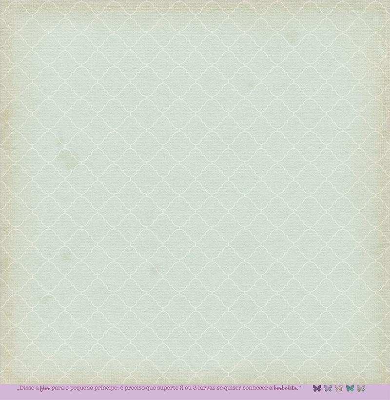 Papel Modelo Borboletas no Estômago - Coleção Botânica Vintage / Juju Scrapbook  - JuJu Scrapbook