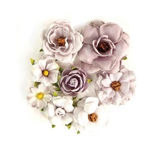 Flores Decorativas Rose Quartz Cinza - Prima Marketing  - JuJu Scrapbook
