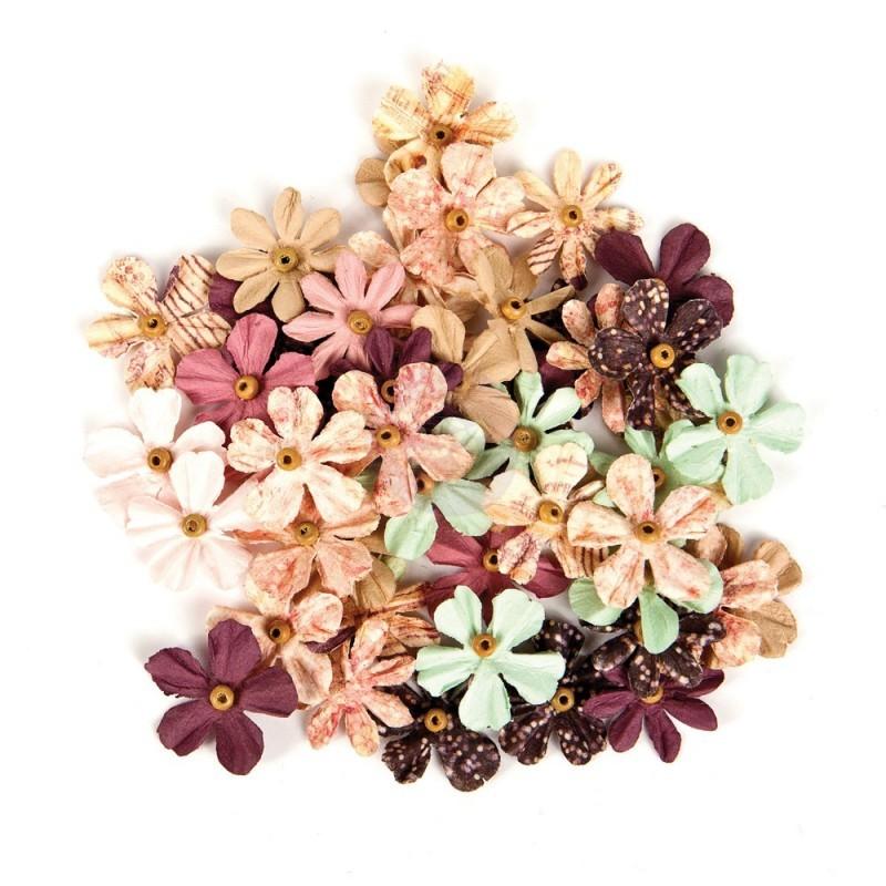 Flores Decorativas Wild & Free 48 peças - Prima Marketing  - JuJu Scrapbook