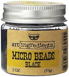 Microbeads Art Ingredients Black - Prima Marketing  - JuJu Scrapbook