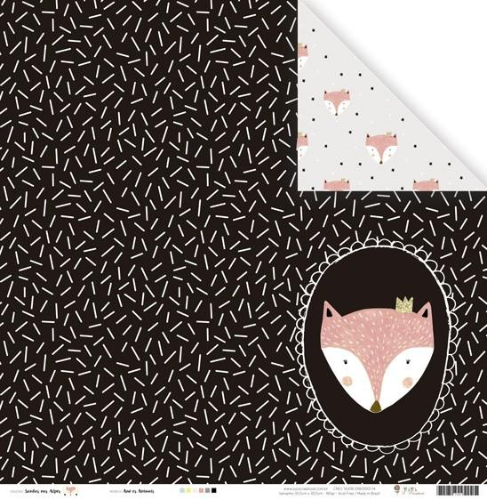 Papel Modelo Ame os Animais - Coleção Sonhos nos Alpes / Juju Scrapbook  - JuJu Scrapbook