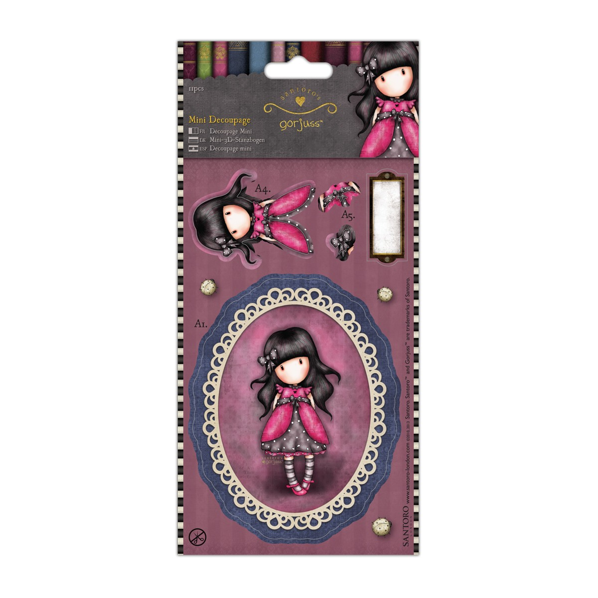 Mini Decoupage  Simply Gorjuss - Ladybird  - JuJu Scrapbook