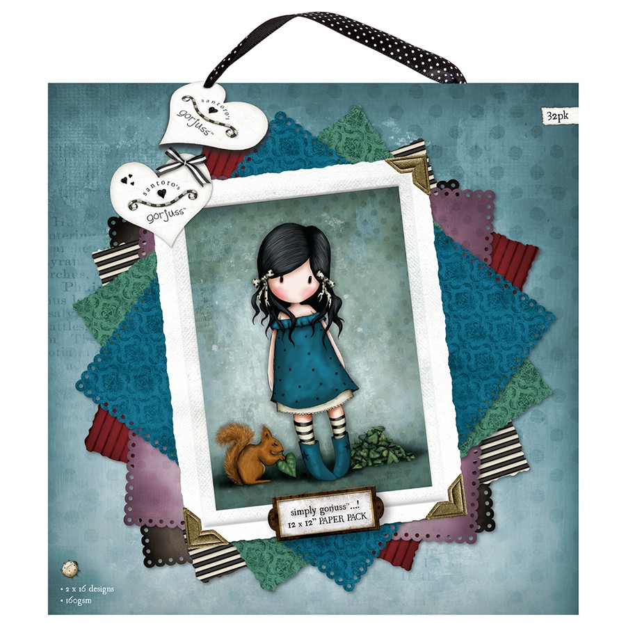 12 x 12´ Paper Pack (32pk) - Gorjuss 160101  - JuJu Scrapbook