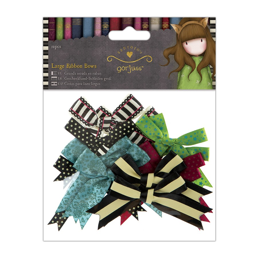 Large Ribbon Bows (12pcs) - Simply Gorjuss  - JuJu Scrapbook