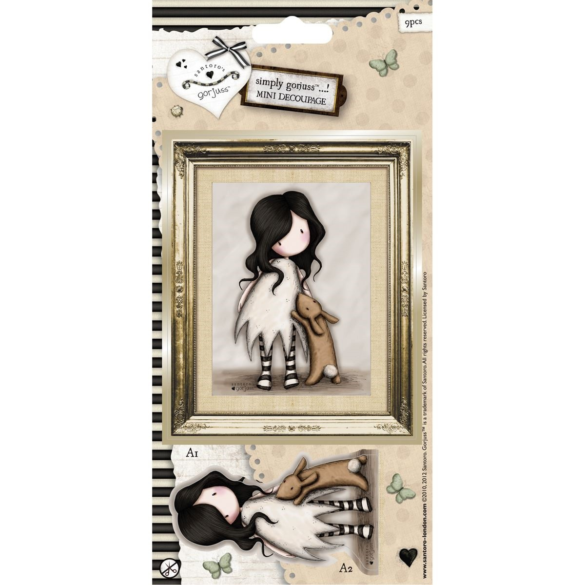 Mini Decoupage - Simply Gorjuss - I Love You Little Rabbit  - JuJu Scrapbook