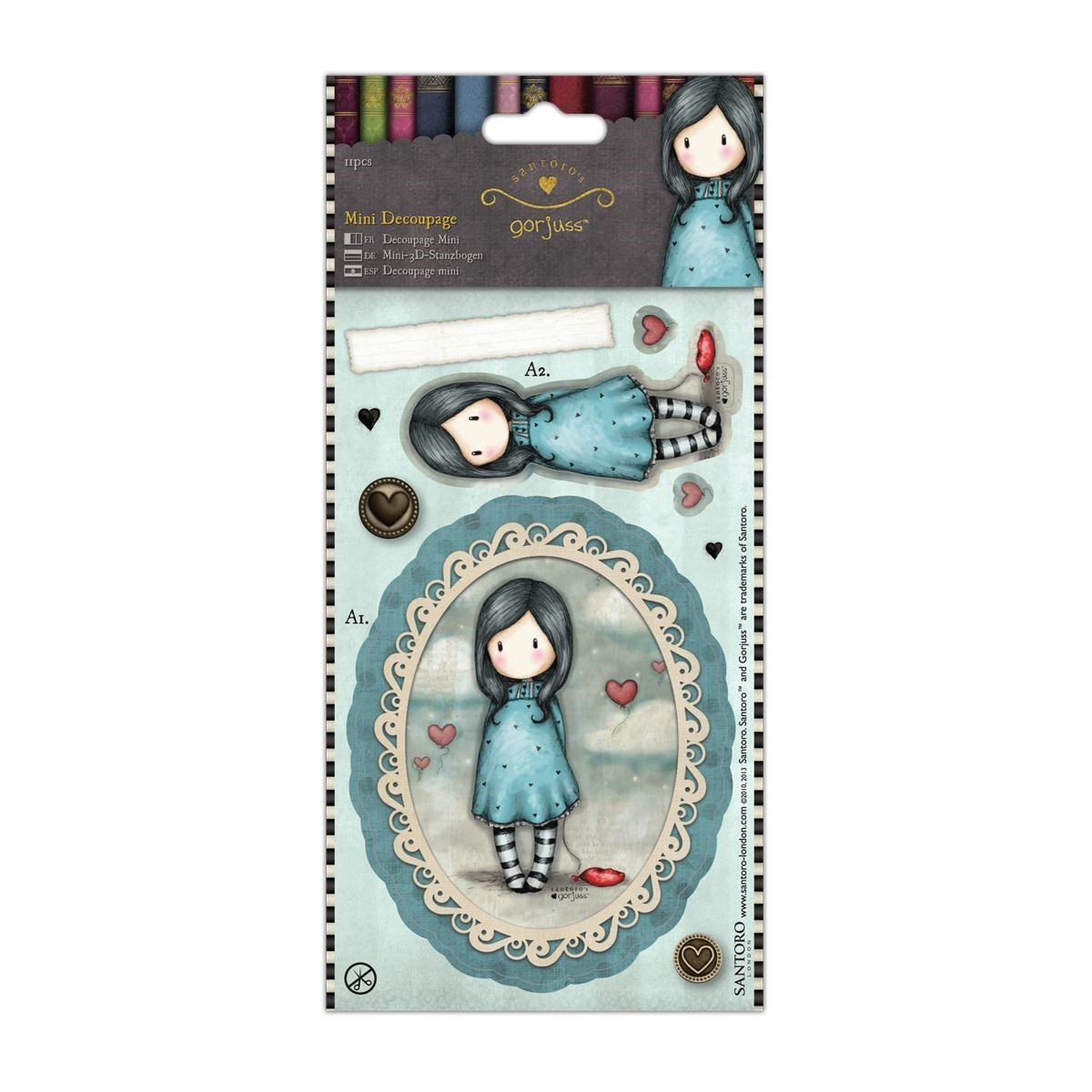 Mini Decoupage - Simply Gorjuss - Let Down  - JuJu Scrapbook