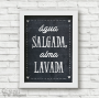 Poster Água Salgada, Alma Lavada - Coleção Todo Momento Importa / Juju Scrapbook