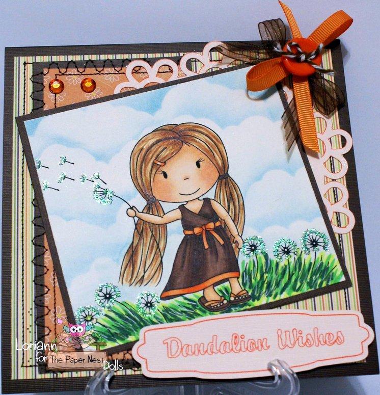 Carimbo Paper Nest Dolls - Modelo Dandelion Wishes  - JuJu Scrapbook