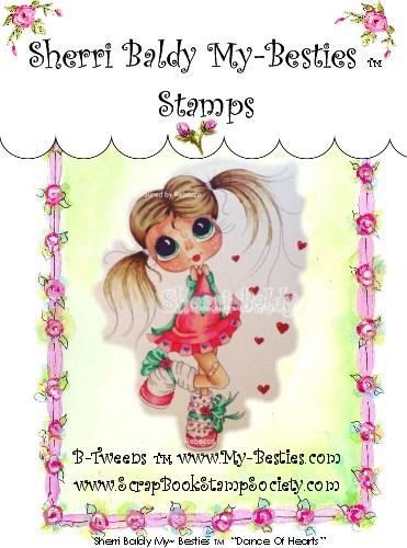Carimbo My Besties - Modelo Dance Of Hearts  - JuJu Scrapbook