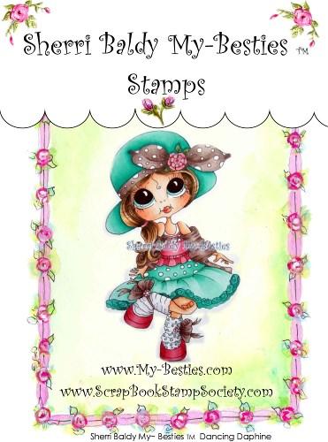 Carimbo My Besties - Modelo Dancing Daphine  - JuJu Scrapbook