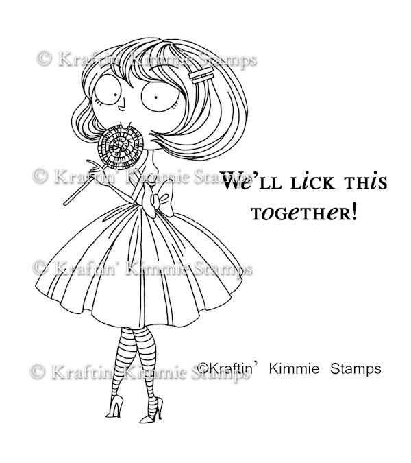 Carimbo Kimmie - Modelo Lola Lollipop  - JuJu Scrapbook