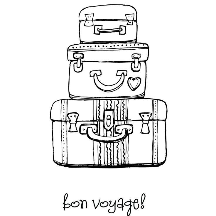 Carimbo Stamping Bella - Modelo Pack your bags  - JuJu Scrapbook