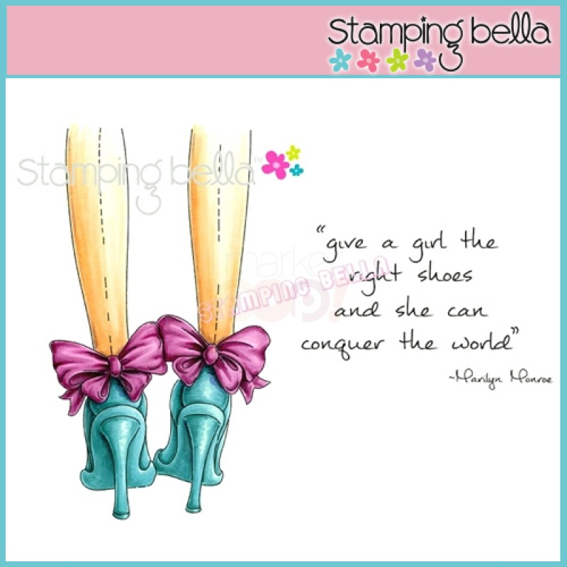 Carimbo Stamping Bella - Modelo The right shoes  - JuJu Scrapbook