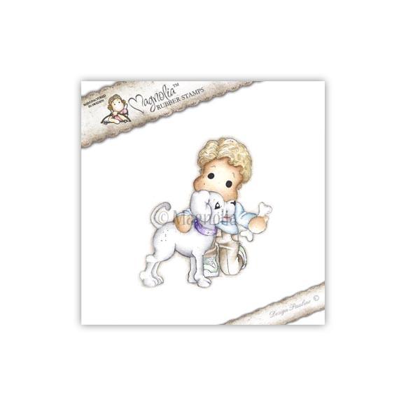 Carimbo Magnolia - Modelo Edwin with Tin Tin the Dog  - JuJu Scrapbook