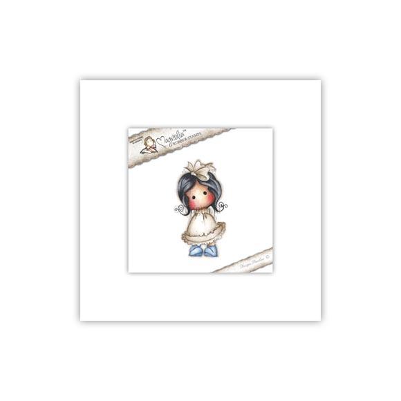 Carimbo Magnolia - Modelo Sneaky Tilda  - JuJu Scrapbook