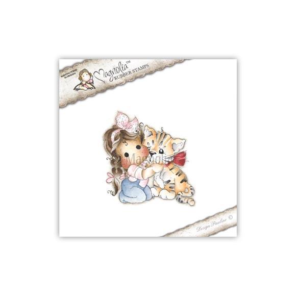 Carimbo Magnolia - Modelo Tilda with Daisy-Mae the Tiger  - JuJu Scrapbook
