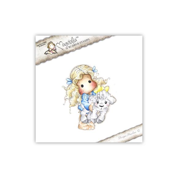 Carimbo Magnolia - Modelo Tilda with Elsie the Lamb  - JuJu Scrapbook