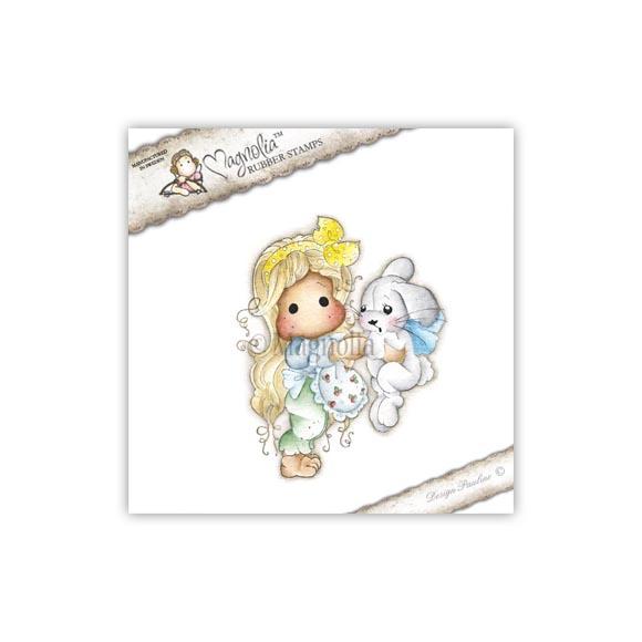 Carimbo Magnolia - Modelo Tilda with Inez the Bunny  - JuJu Scrapbook