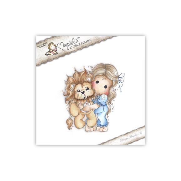 Carimbo Magnolia - Modelo Tilda with Leo the Lion  - JuJu Scrapbook