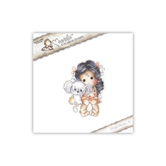 Carimbo Magnolia - Modelo Tilda with Millie the Mouse  - JuJu Scrapbook