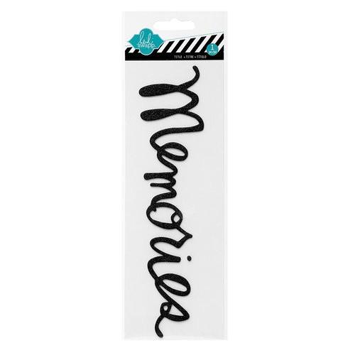 "Adesivo Glitter ""Memories"" Preto - Heidi Swapp  - JuJu Scrapbook"