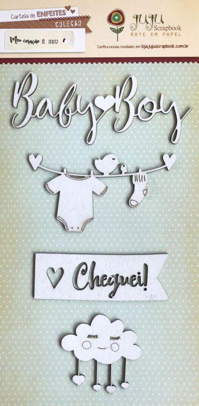 Cartela de Enfeites Baby Boy - Coleção Meu Coração é Seu / JuJu Scrapbook  - JuJu Scrapbook