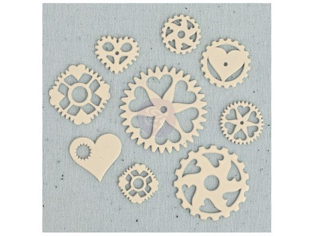 Cartela de Enfeites - Ingvild Bolme / Heart Gears - Prima Marketing  - JuJu Scrapbook