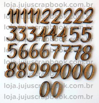 Cartela de Enfeites Sopa de Números - Coleção Todo Momento Importa / JuJu Scrapbook  - JuJu Scrapbook