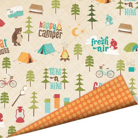 Coleção Happy Camper / Papel Fresh Air - Imaginisce  - JuJu Scrapbook