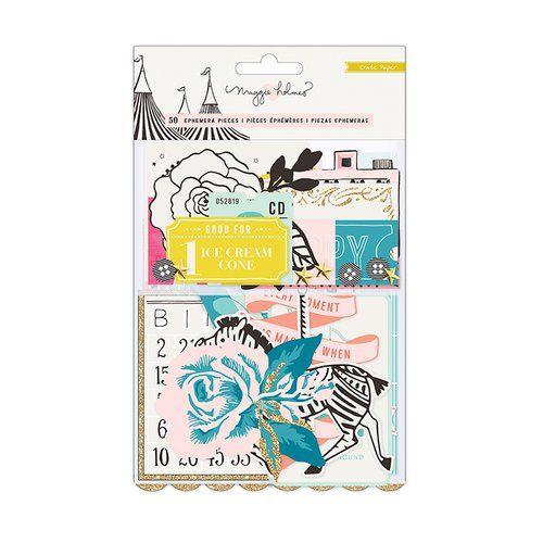 Ephemera Die cut - Coleção Carousel / Crate Paper   - JuJu Scrapbook