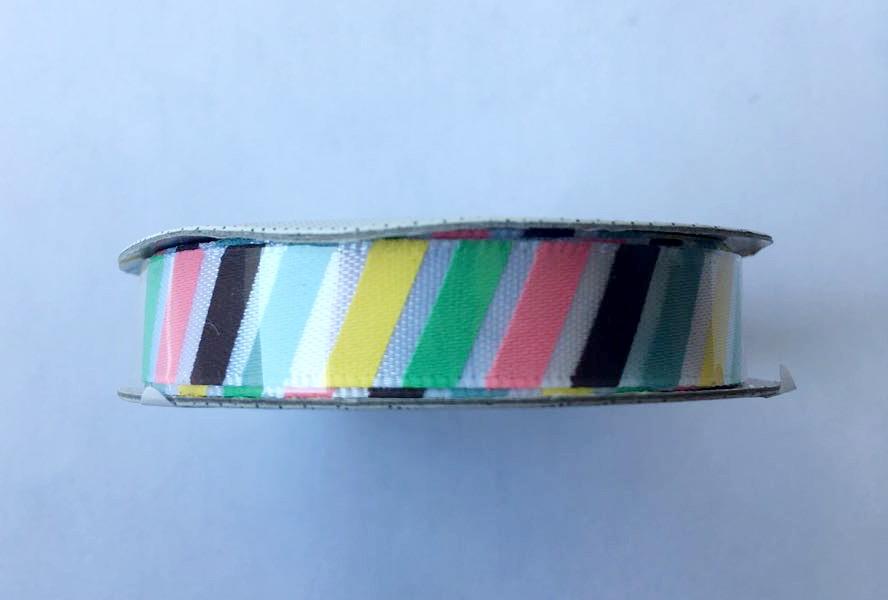 Fita Premium Ribbon Listras Coloridas - American Crafts   - JuJu Scrapbook