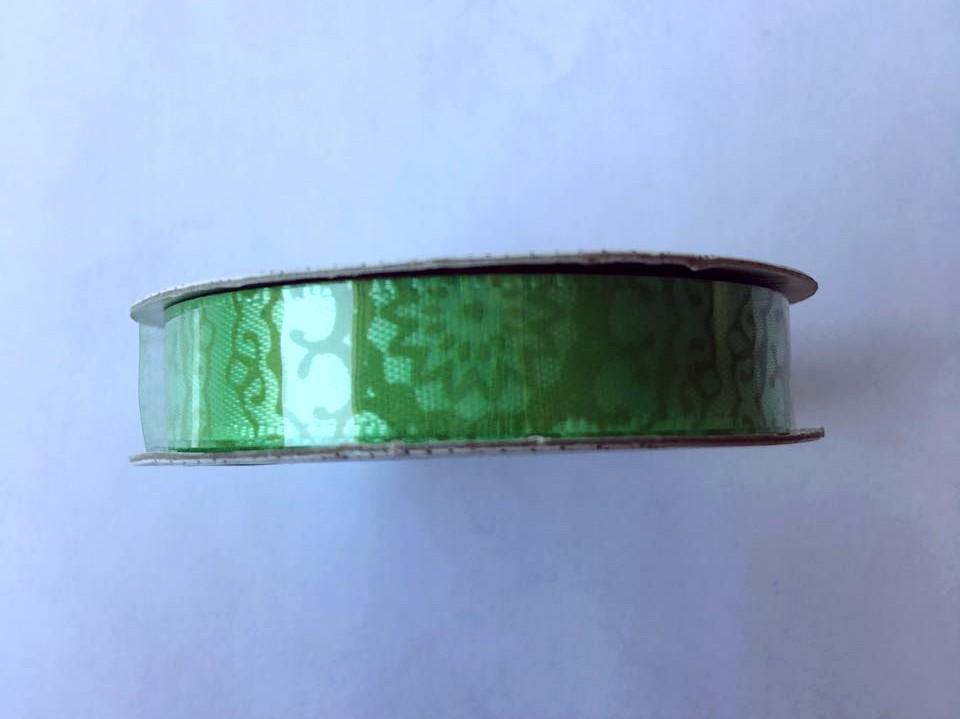 Fita Premium Ribbon Mandala Verde - American Crafts   - JuJu Scrapbook