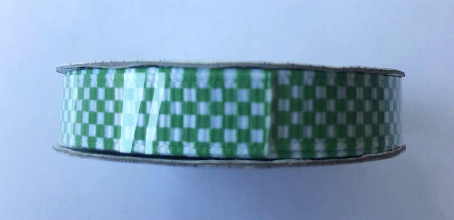 Fita Premium Ribbon Quadriculado Verde - American Crafts   - JuJu Scrapbook