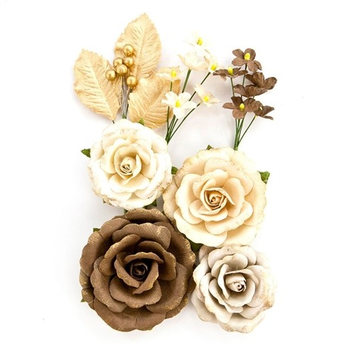 Flores Decorativas Amber Moon Modelo Aspen - Prima Marketing   - JuJu Scrapbook
