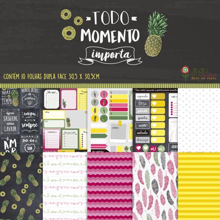 Kit Coordenado - Coleção Todo Momento Importa / JuJu Scrapbook  - JuJu Scrapbook