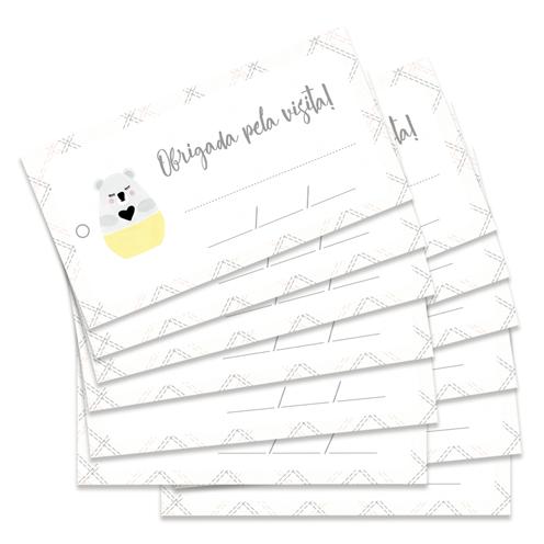 Kit de Tags Obrigada pela visita! Modelo Coala - Coleção Meu Coração é Seu / JuJu Scrapbook  - JuJu Scrapbook
