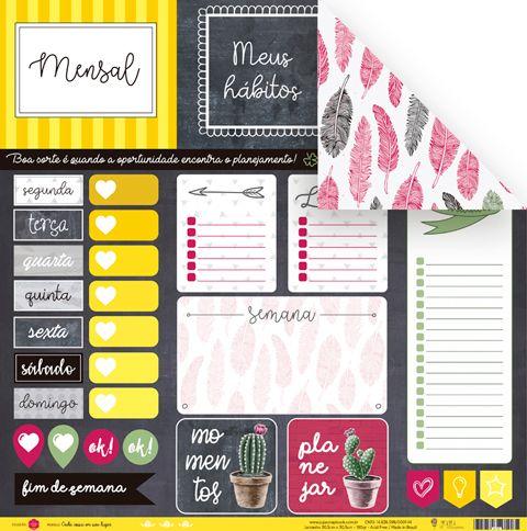 Papel Modelo Cada Coisa em Seu Lugar - Coleção Todo Momento Importa / JuJu Scrapbook  - JuJu Scrapbook