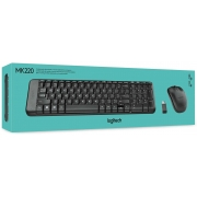 Kit Teclado e Mouse Logitech MK220